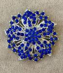 Blue and Silver Brooch